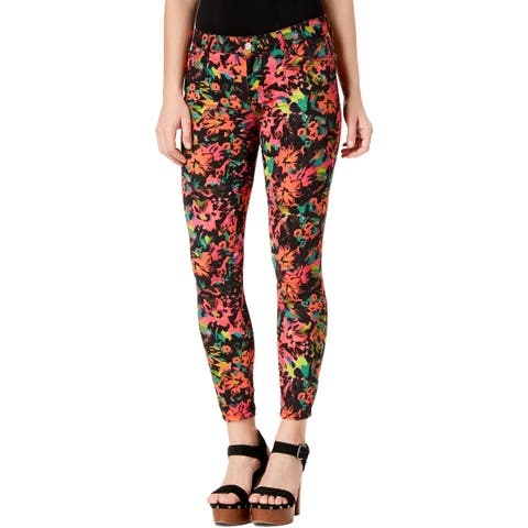 Guess Womens Sexy Curve Skinny Jeans Denim Floral