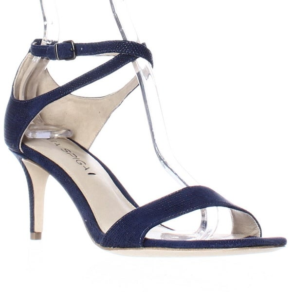 Via Spiga Leesa Ankle Strap Dress Sandals - Lapis