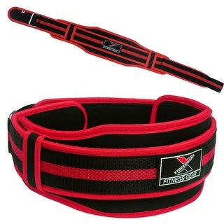 "Neoprene Weight Lifting Belt Back Support Gym Training 5"" Wide Black Red BT6 - Black/red"