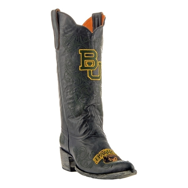 Gameday Boots Womens College Team Baylor Bears Black Gold
