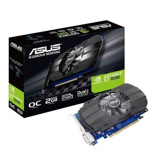 Asus Video Graphics Card Ph-Gt1030-O2g Geforce Gt 1030 2Gb Gddr5 Pci Expr 64Bit