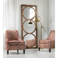 """Hooker Furniture 638-50033 32"""" x 84"""" Rectangular Framed Mirror from the Melange - Encircle Collection - medium wood stain - n/a"""