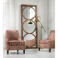 "Hooker Furniture 638-50033 32"" x 84"" Rectangular Framed Mirror from the Melange - Encircle Collection - medium wood stain"