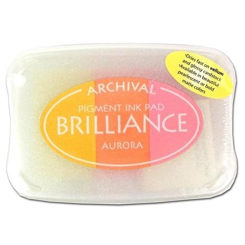 Brilliance Craft Ink Pad Large 3/Color Aurora