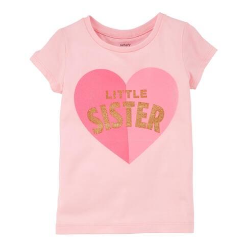 Carter's Baby Girls' Little Sister Jersey Tee