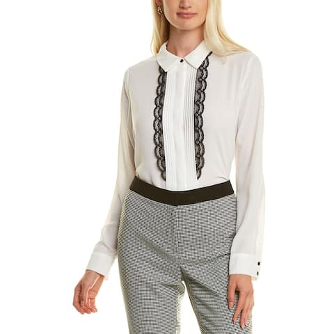 Karl Lagerfeld Lace-Trim Blouse