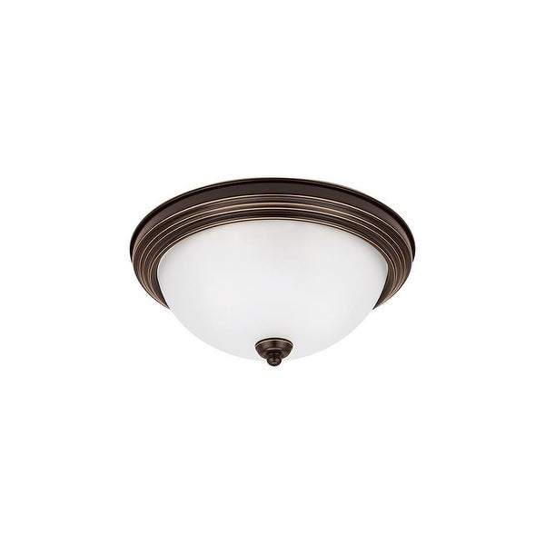 Sea Gull Lighting 77064-827 Ceiling Flush Mount Round Flush Mount 2-Light Bronze - Bronze Finish