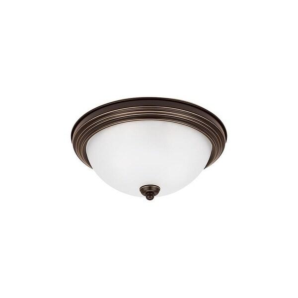 Sea Gull Lighting 79163BLE-827 Ceiling Flush Mount Round 1-Light CFL Bronze - Bronze Finish