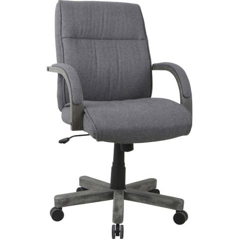 Lorell Gray Fabric High-Back Executive Chair
