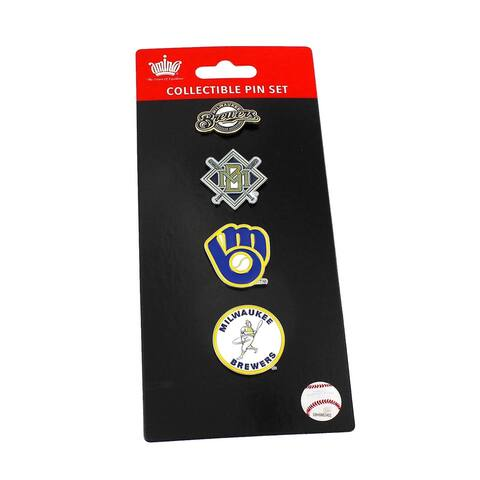 MLB Milwaukee Brewers Sports Team Logo 4 Pin Collectible Sets