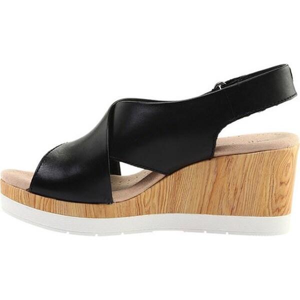 Cammy Pearl Wedge Sandals Black
