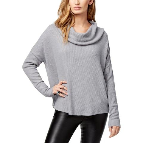 Lucky Brand Womens Pullover Sweater Tulip Hem Cowl Neck