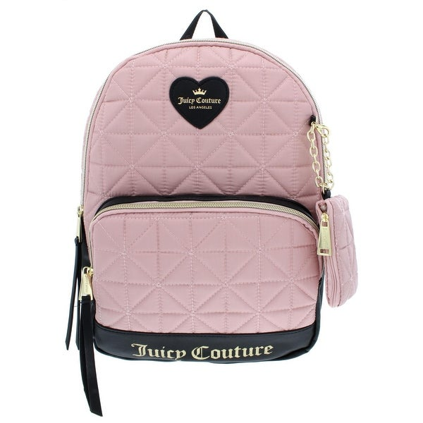 Juicy Couture Womens Starburst Backpack Quilted Faux Leather Trim - small 6516452b1f