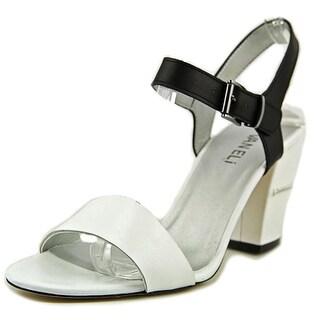 Vaneli Candida Open Toe Leather Sandals