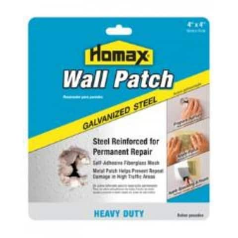 """The Homax Group 5504 Wall Patch 4"""" X 4"""", Galvanized Steel"""