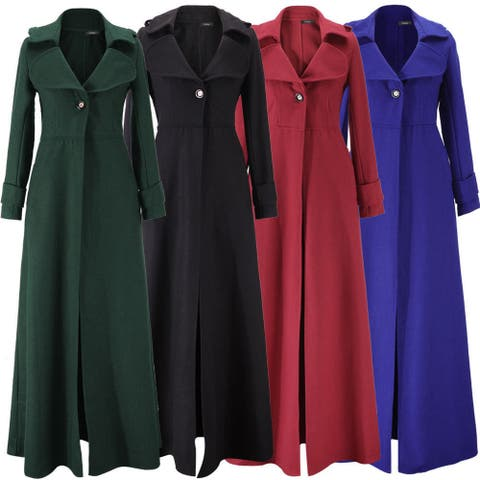 Women's Long Slim Mop Trench Coat