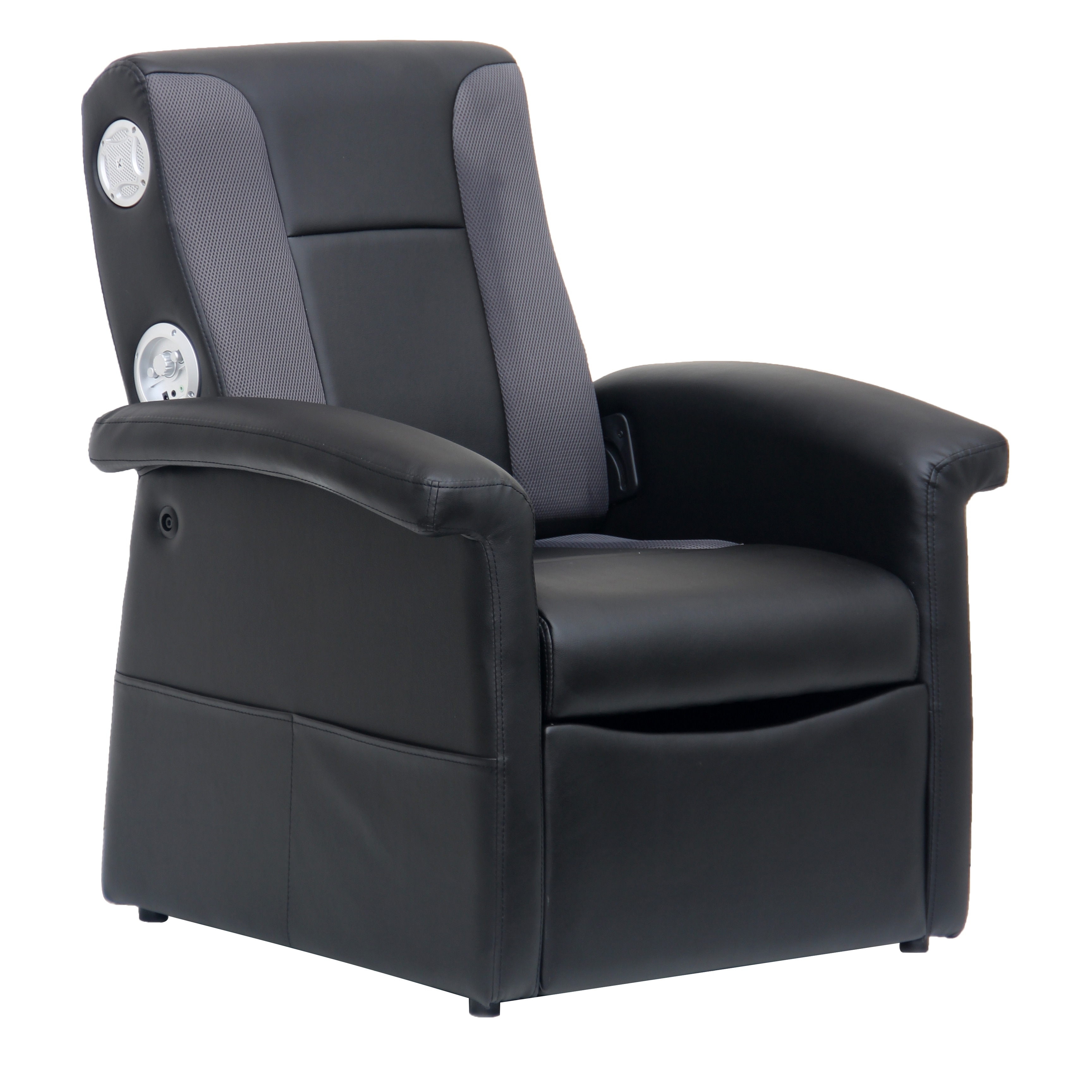 X Rocker Junior Triple Flip 2 1 Wired Audio Foldable Gaming Chair Home Theater With Subwoofer Armrests Storage Ottoman Black On Sale Overstock 32202343