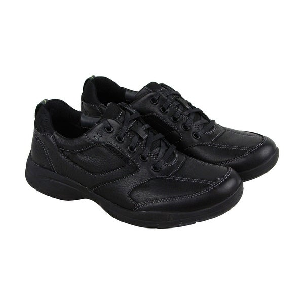 Clarks Wavekorey Fly Mens Black Leather Casual Dress Lace Up Oxfords Shoes