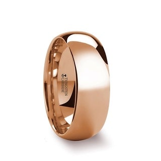 Thorsten Traditional Domed Rose Gold Plated Tungsten Carbide Wedding Ring - 8mm SOL