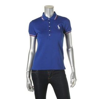 Polo Ralph Lauren Womens Polo Top Twill Graphic - m