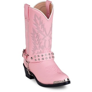 Durango BT668 Youth W Round Toe Synthetic Pink Western Boot