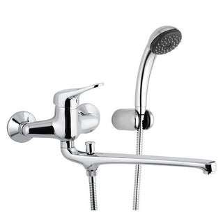 Nameeks K49  Remer Wall Mounted Tub Filler with Hand Shower and Wall Bracket - Chrome