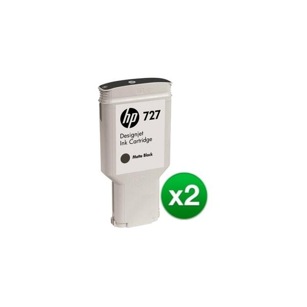 HP 727 300-ml Matte Black DesignJet Ink Cartridge (C1Q12A) (2-Pack)