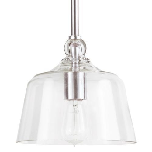 "Park Harbor PHPL5541 Eastland 8"" Wide Single Light Mini Pendant with Cloche Dome Shade"