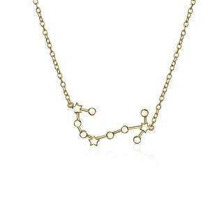 Bling Jewelry Scorpio Zodiac Constellation Gold Plated Necklace 16 Inches