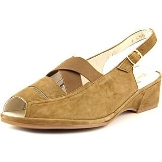 Ara Rumor Women Peep-Toe Suede Slingback Heel