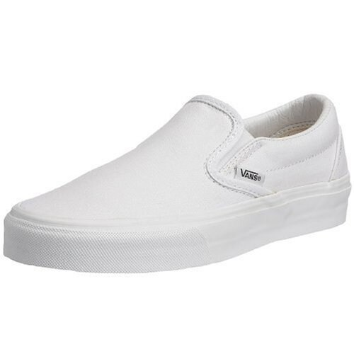 Vans Classic Slip-On (True White) Mens Skate Shoes-11.5