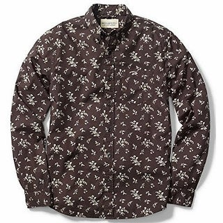 Denim & Supply NEW Brown Mens Size Small S Floral Button Down Shirt