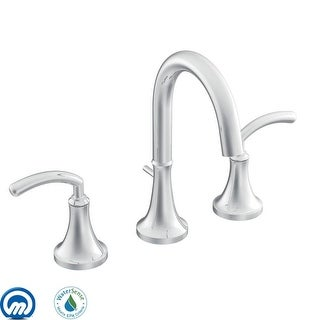 Moen TS6520  Double Handle Widespread Bathroom Faucet from the Icon Collection