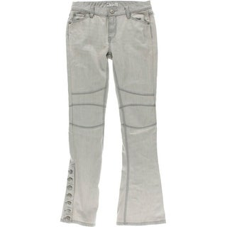 Free People Womens Juniors Low-Rise Seamed Flare Jeans - 26