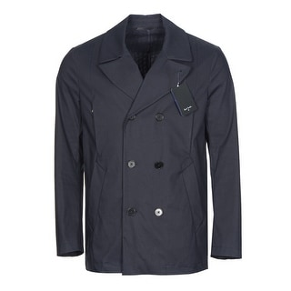 Paul Smith PS Water Resistant Peacoat Navy Blue Coat Large L