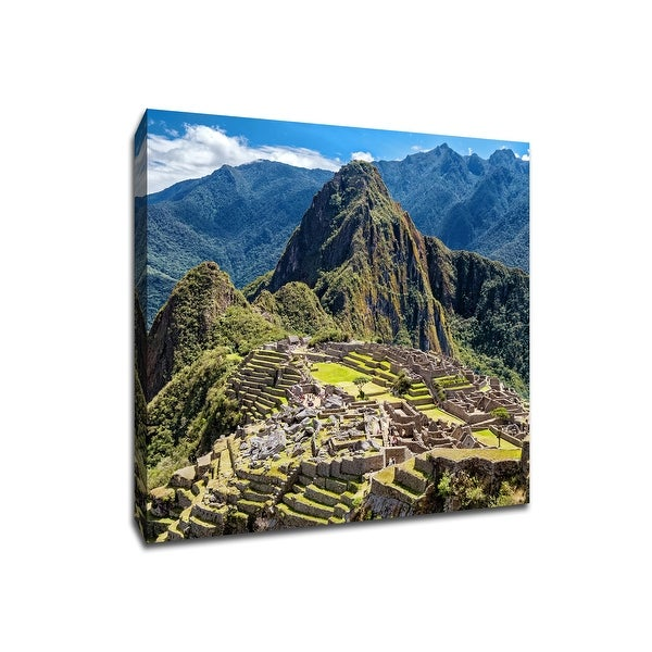 Machu Picchu - Peru - Global Landmarks - 20x20 Gallery Wrapped Canvas Wall Art