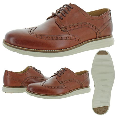 Cole Haan Mens Original Grand Oxfords Leather Wingtip