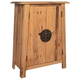 "vidaXL Bathroom Side Cabinet Solid Recycled Pinewood 23.2""x12.6""x31.5"""