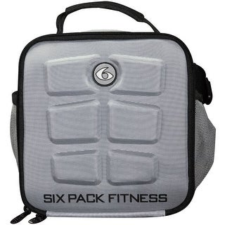 6 Pack Fitness The Cube Meal Management Bag - Gray/Black - One size