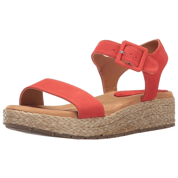 Kenneth Cole REACTION Women's Calm Water Platform Sandal, Red, Size 7.5