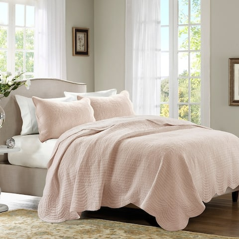 Madison Park Marino Reversible Scalloped Edge Coverlet Se