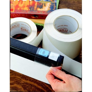Kapco Vinyl Label Protectors, Round, 1-1/4 x 3-1/8 Inches, Clear, Pack of 500