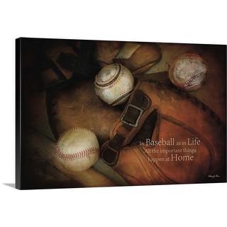 """""""Baseball"""" Canvas Wall Art"""