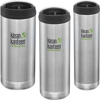 Link to Klean Kanteen TKWide Insulated Bottle with Wide Loop Cap - Brushed Stainless Similar Items in Glasses & Barware