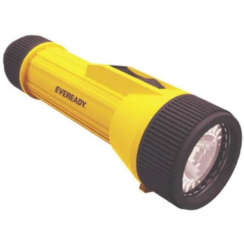 Eveready EVINL25S LED Industrial Flashlight with 2 D Batteries, Yellow