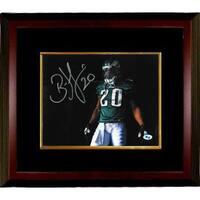 Brian Dawkins signed Philadelphia Eagles 8x10 Photo Custom Framed 20 horizontalgreen jerseywvisor