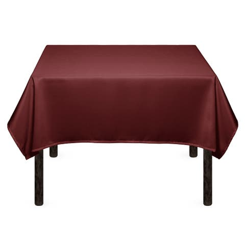 "1-Count 54"" Premium Square Tablecloth - Burgundy by Mill & Thread"