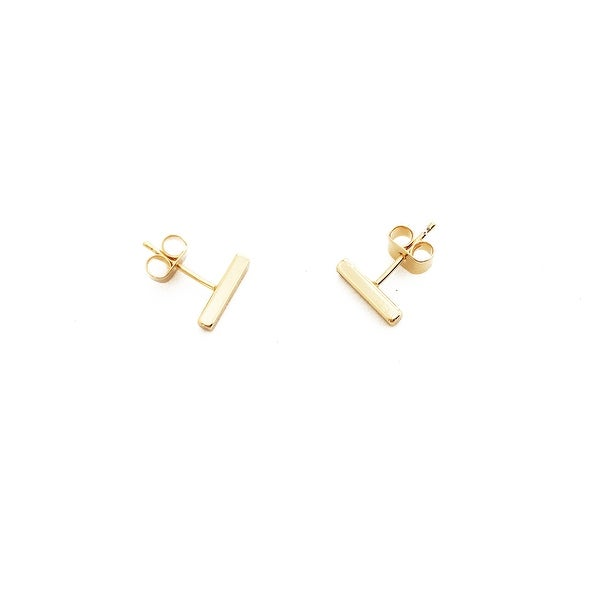 Honeycat Small Middle Bar Earrings (Delicate Jewelry)