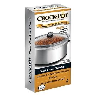 Crock-Pot 4142690012 Crock Pot/Slow Cooker Liner, Plastic, Clear, 3-7 Qt