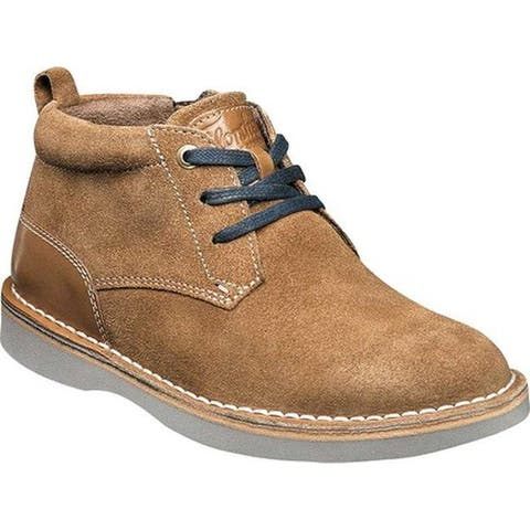 Florsheim Boys' Navigator Chukka Boot Jr. Mocha Leather